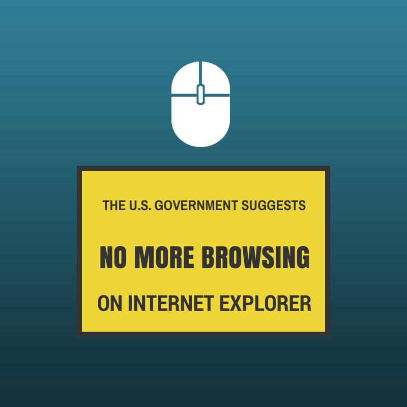 no more browsing on internet explorer
