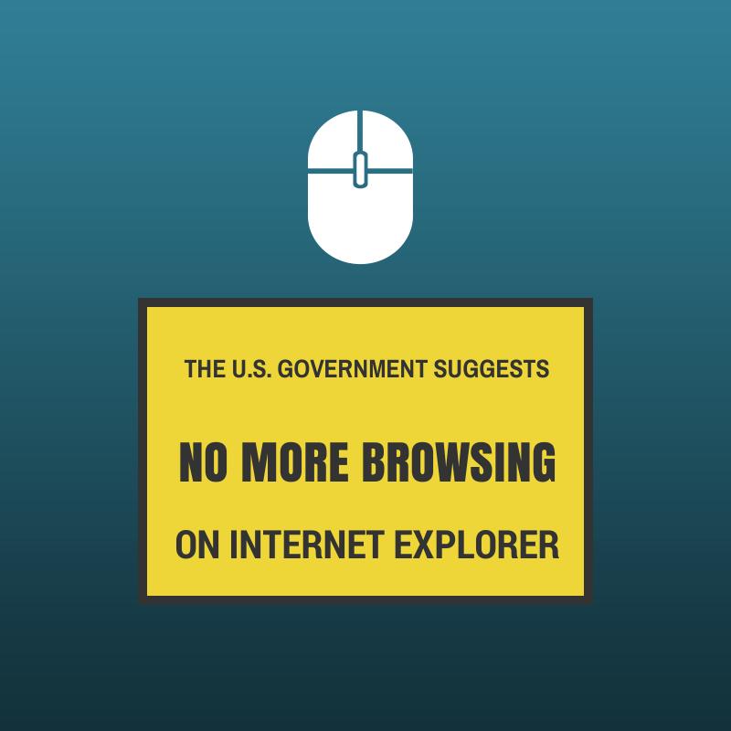 no more browsing on internet explorer