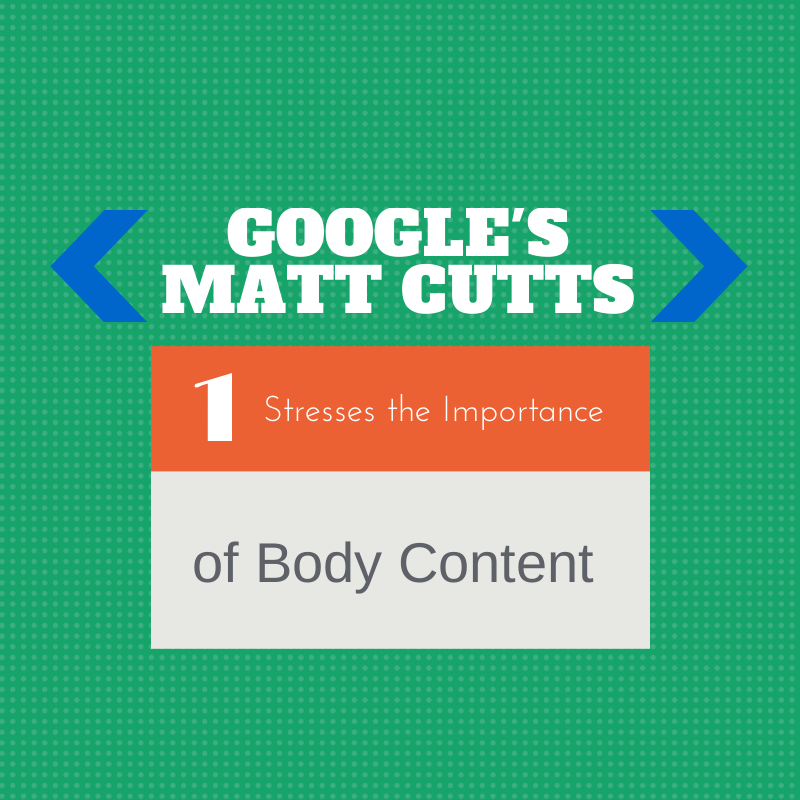Google's Matt Cutts Stresses the Importance of Body Content | Small Screen Producer Digital and Inbound Marketing Agency Houston