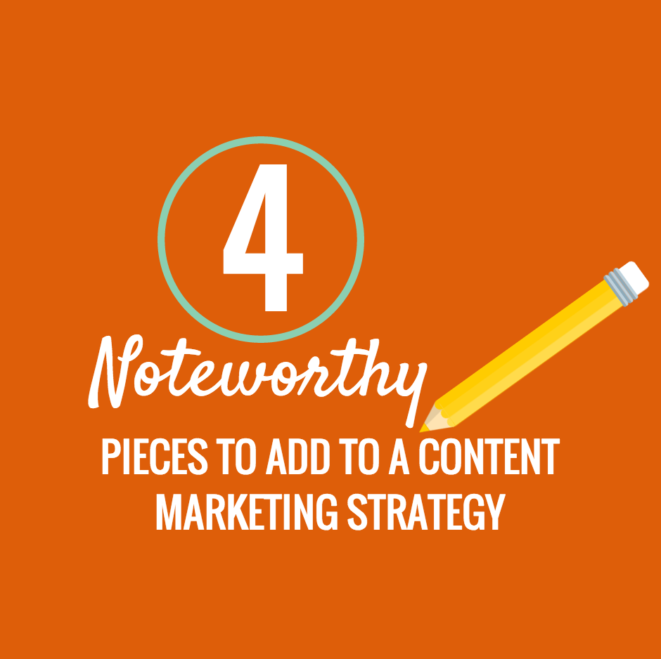 Four Noteworthy Pieces to Add to a Content Marketing Strategy