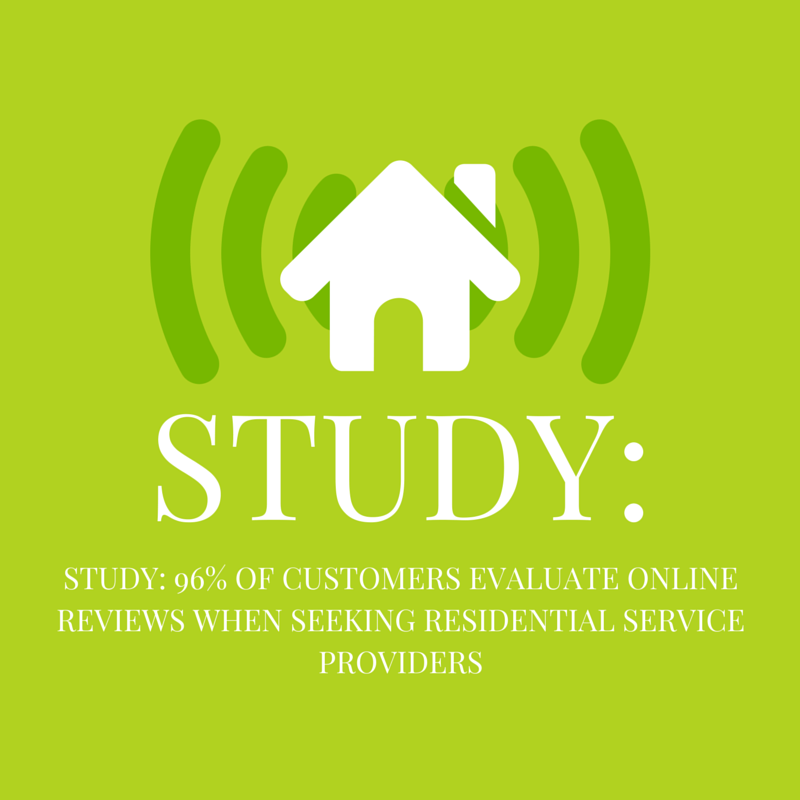 Study: 96% of Customers Evaluate Online Reviews When Seeking Residential Service Providers