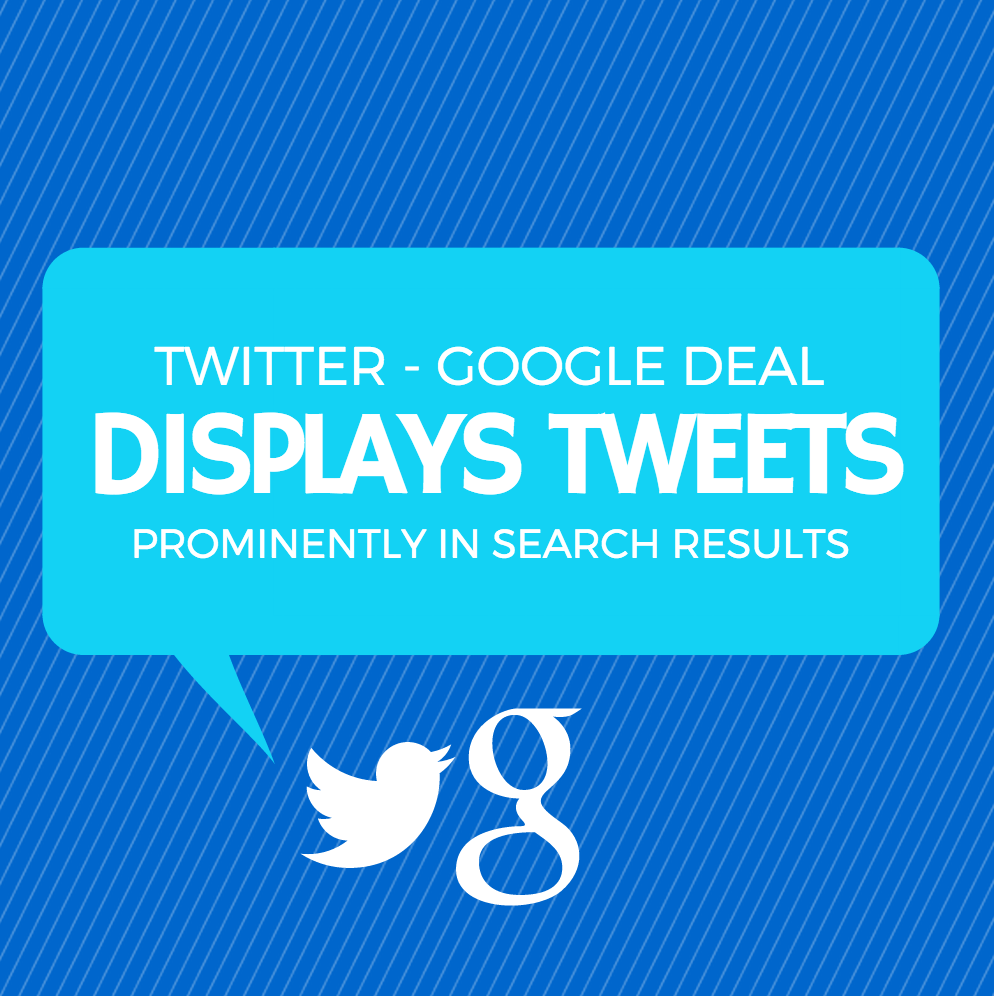 Google-Twitter Deal Displays Tweets Prominently in Search Results