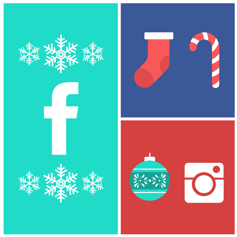 happy holidays social icons
